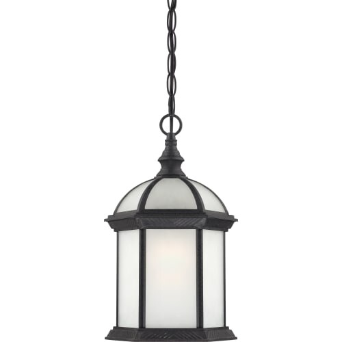 Nuvo Lighting 60/4999 Boxwood ES Single-Light Hanging Lantern with Frosted Glass Panels