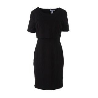 Dylan Gray Womens Ponte Knee-Length Wear to Work Dress