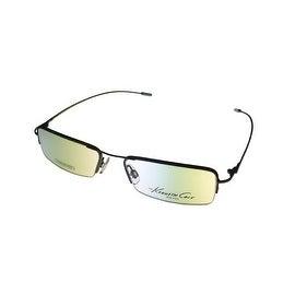 Kenneth Cole Mens Opthalmic Eyeglass Frame Black Rectangle Metal KC138 96 - Medium
