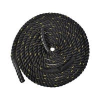"Costway 2"" 40ft Poly Dacron Battle Rope Exercise Workout Strength Training Undulation (40ft) - Black"