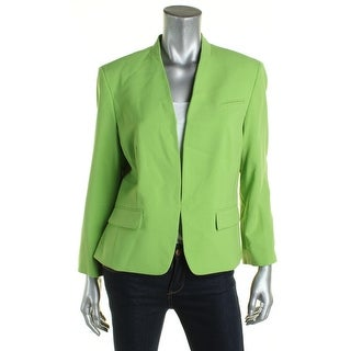 Nine West Womens Collarless Blazer Open Stretch