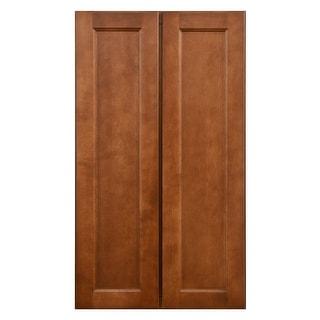 "Sunny Wood ESP2442T-A  Ellisen 24"" Wide x 42"" High Double Door Pantry Cabinet - Amber Spice"
