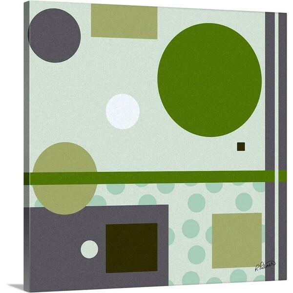 """Green Geo"" Canvas Wall Art"