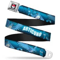 Pok Ball Full Color Black Articuno 3 Poses Blues White Webbing Seatbelt Seatbelt Belt
