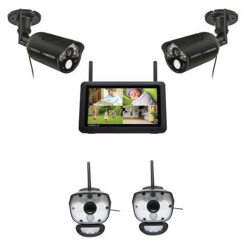 Uniden UDR777HD + ULC58-2 Wireless Surveillance Cameras w/ 7 Inch HD Monitor - Black
