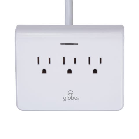 Globe Electric 78428 Designer Series Surge Protecting Charging Station with (3) 3-Pin Grounded Outlets and (4) USB Ports