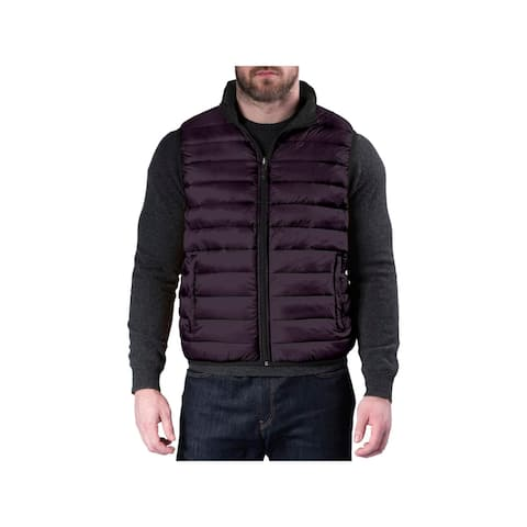 Hawke & Co. Mens Casual Vest Reversible Puffer