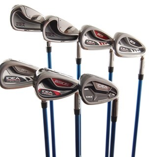 New Adams Idea Mixed Iron Set 4-9,GW Aldila 55 R-Flex Graphite RH