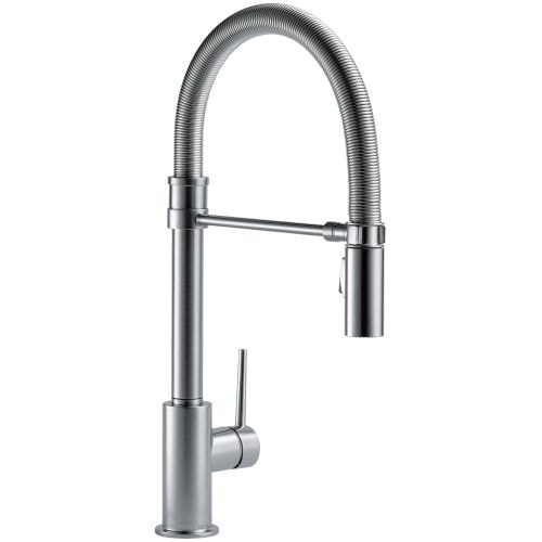 Delta 9659 DST Trinsic Pro Pre Rinse Pull Down Kitchen Faucet With Magnetic  Docking Spray Head   Includes Lifetime Warranty   Free Shipping Today ...