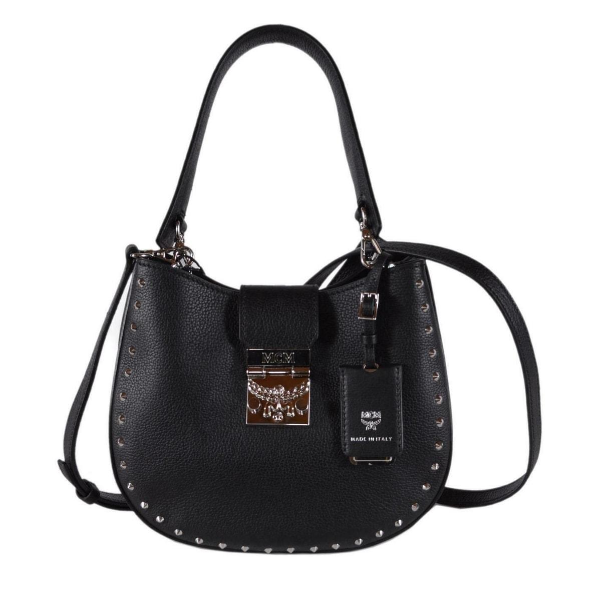 Mcm Trisha Small Black Studded
