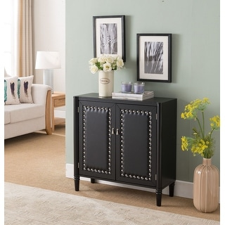 Black Faux Leather Console Table