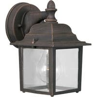 Forte Lighting 1745-01 Craftsman / Mission Outdoor Wall Sconce from the Exterior Lighting Collection