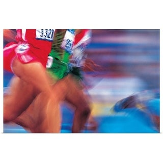 """""""Midsection of Runners"""" Poster Print"""