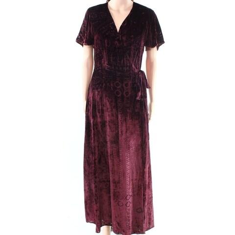 Polo Ralph Lauren Womens Velvet Surplice Wrap Dress