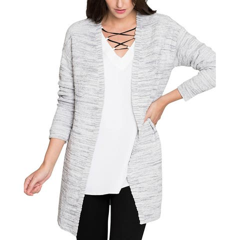 Nic+Zoe Petite Lace It Back Cardy - ICG ICY GREY
