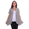 Simply Ravishing Women's Basic Short Sleeve Open Cardigan (Size: Small-5X) - Thumbnail 4