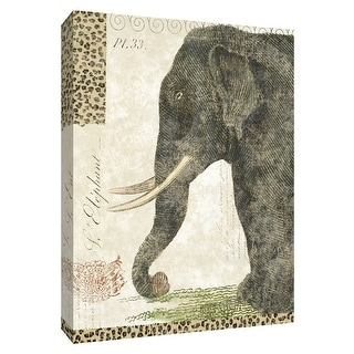 "PTM Images 9-154972  PTM Canvas Collection 10"" x 8"" - ""L Elephant"" Giclee Elephants Art Print on Canvas"