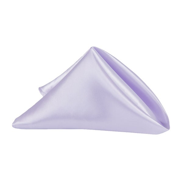"""50 Pieces, Satin Napkin 20""""x20"""" square Edge: Hemmed Material: 100% Polyester - Lavender"""