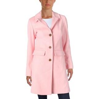 1 Madison Womens Basic Coat Solid Wool Blend (Option: S - Blossom)