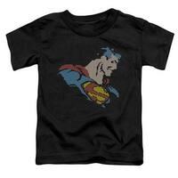 Dc-Lite Brite Superman - Short Sleeve Toddler Tee - Black, Smal