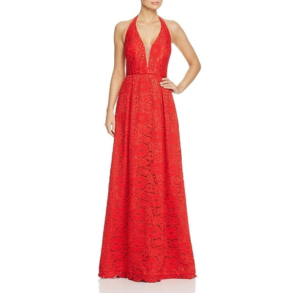 JS Collections Womens Evening Dress Lace Mesh Inset - Free Shipping ...