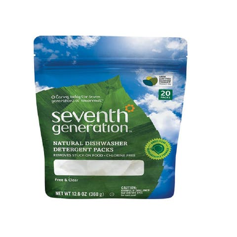 Seventh Generation 102283 Dishwasher Detergent, Free and Clear Scent, 12.6 Oz