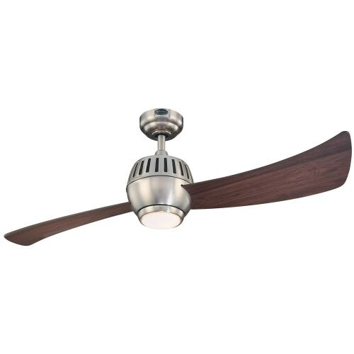 """Westinghouse 7852400 Sparta 52"""" 2 Blade Hanging Indoor Ceiling Fan with Reversible Motor, Blades, Light Kit, Remote, and Down"""