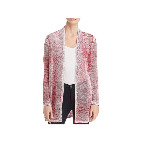 Nic + Zoe Womens Cardigan Top Heathered Ope Front - L
