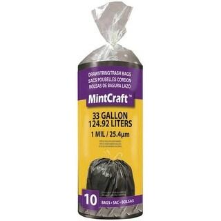 MintCraft FG-O3812-02 Drawstring Trash Bags, 33 Gallon, 10 Bags