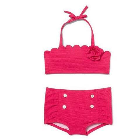 Janie And Jack Girl's Swimwear 2 Piece, Pink, 12