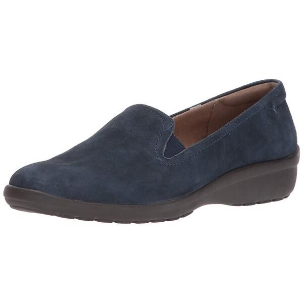 Easy Spirit Womens Santara Suede Closed Toe Loafers