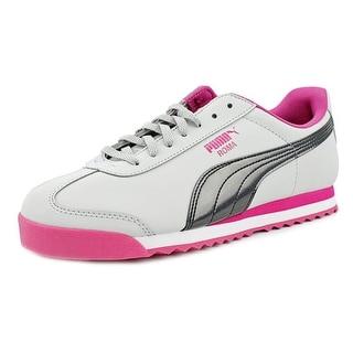 Puma Roma Iri Nbk Jr Girl Gray Violet-Beetroot Purple Athletic Shoes
