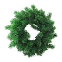 "12"" Decorative Green Pine Artificial Christmas Wreath- Unlit"