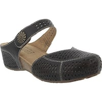 L'Artiste by Spring Step Women's Spoorti Clog Black Leather