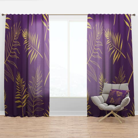 Designart 'Tropical Foliage V' Mid-CenturyCurtain Panel