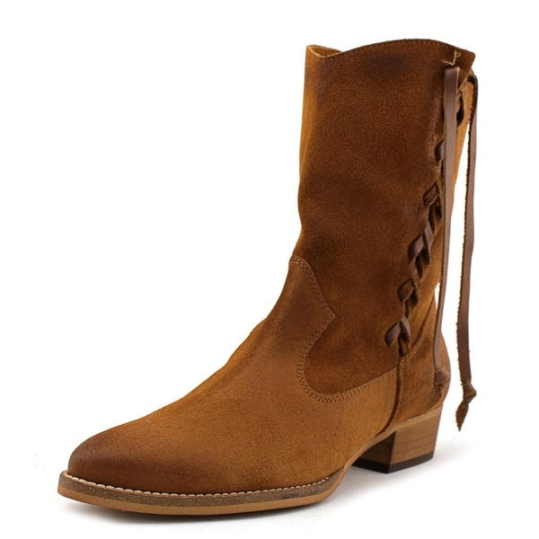 MTNG 94377 Women Round Toe Suede Mid Calf Boot