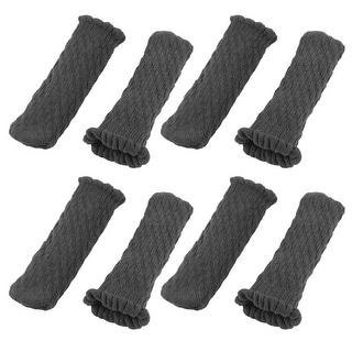 Polyester Non-slip Table Desk Chair Stool Bench Leg Socks Feet Cover Black 8pcs