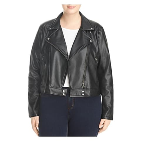 Lysse Womens Plus Jones Motorcycle Jacket Fall Faux Leather