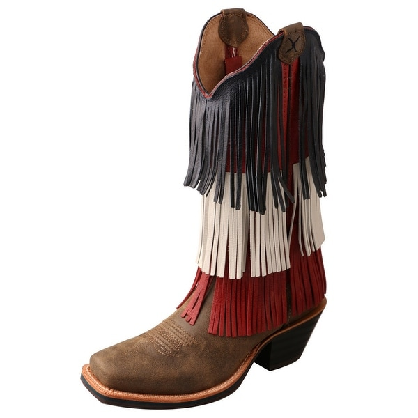Twisted X Western Boots Womens Ruff Stock Square Bomber Red