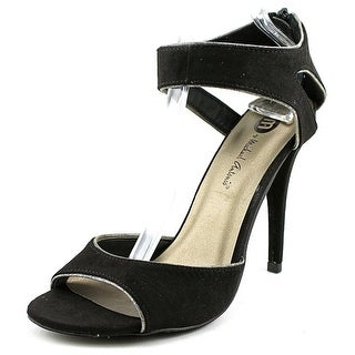 Michael Antonio Jedd Women Open-Toe Synthetic Black Heels