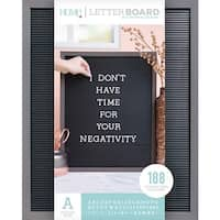 """Gray Stained W/Black Insert - Dcwv Framed Letterboard 16""""X20"""""""