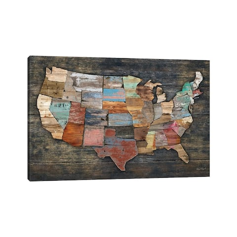 "iCanvas ""USA Map I"" by Diego Tirigall Canvas Print"