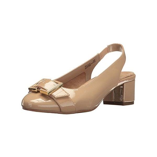 Aerosoles Womens Ink Pad Block Heels Pumps Round Toe