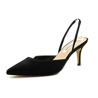 Nina Tracey Pointed Toe Synthetic Slingback Heel