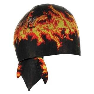 Harley-Davidson Men's H-D Flames Combustion Headwrap, Black & Orange HW20964