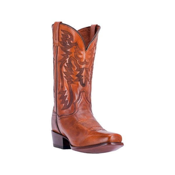 Dan Post Western Boots Mens Centennial Square Stitched Cognac