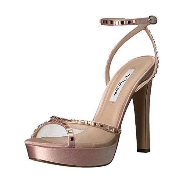 Nina Womens Myrna Evening Heels Embellished Open Toe