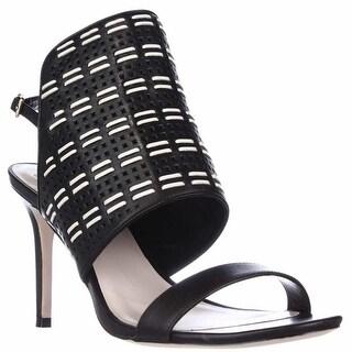Cole Haan Arista Dress Heel Sandals - Black/Ivory