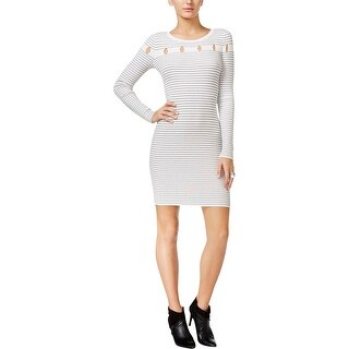 Guess Womens Bodycon Dress Striped Pull On - m