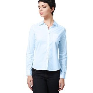 NE PEOPLE Women's Crisp Long Sleeved Button Down Collared Shirts